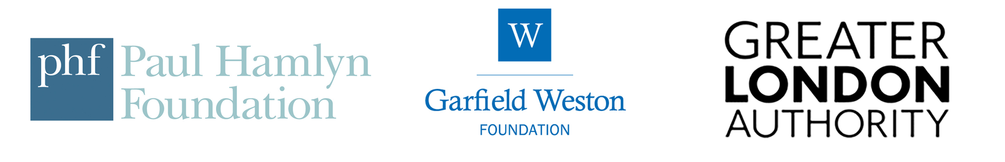 Paul Hamlyn Foundation, Greater London Authority, Garfield Weston Foundation