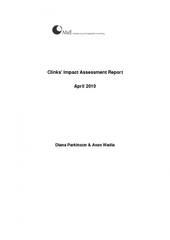 Impact assessment 2010