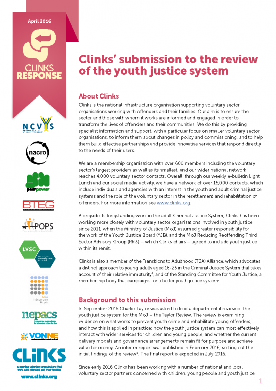 The review of the youth justice system