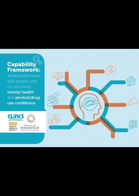 Working effectively with people with co-occurring mental health and Alcohol/drug use conditions cover image