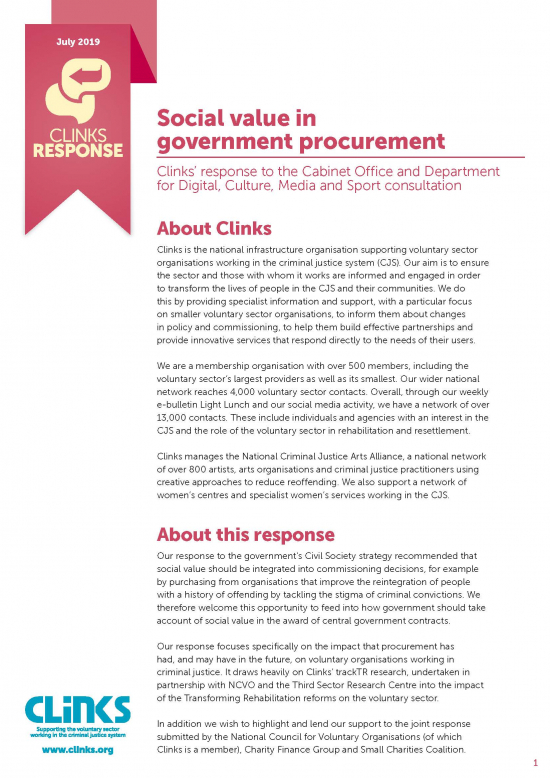 Social value in government procurement
