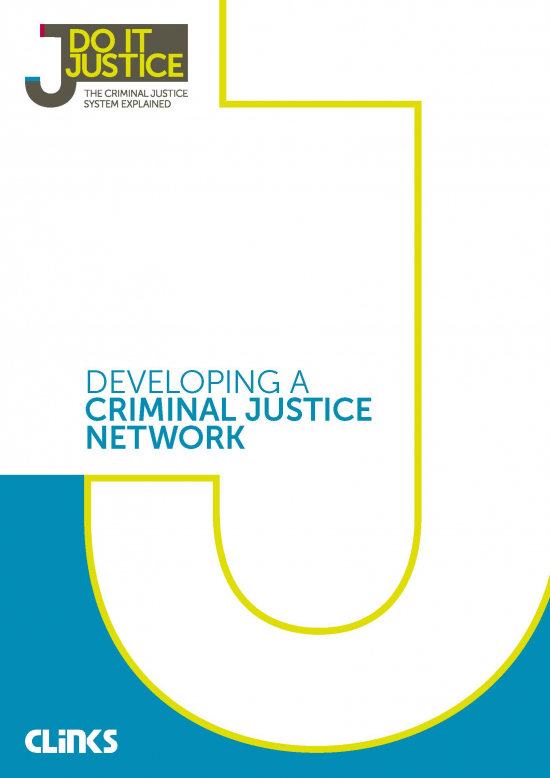 Developing a criminal justice network