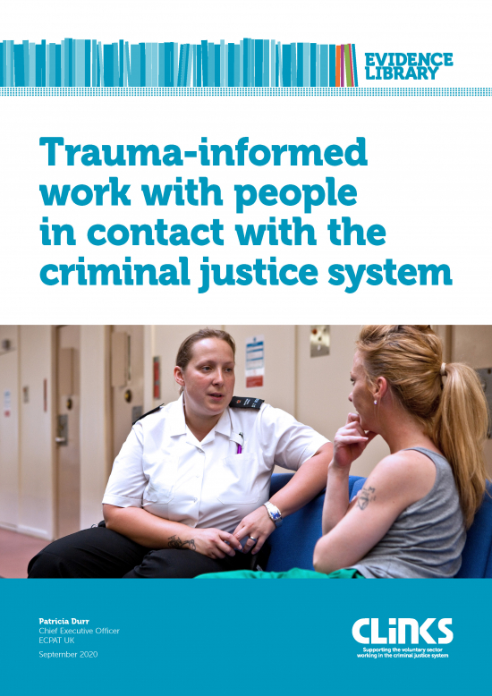 Trauma-informed work with people in contact with the criminal justice system